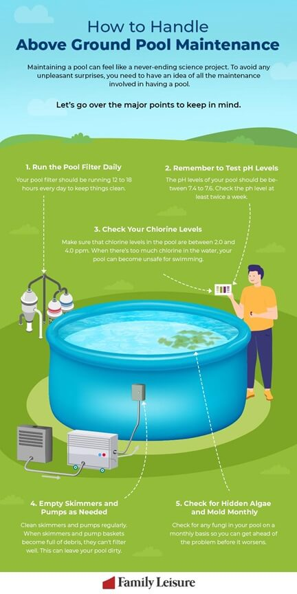 how to handle above ground pool maintenance