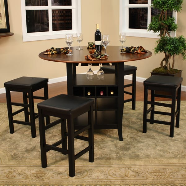 Somerset counter height dining set by american heritage for Tall dinner table set