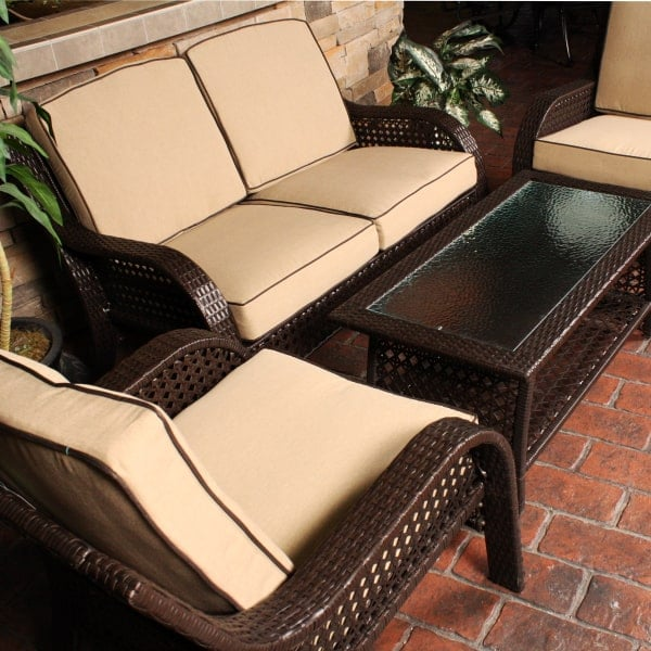 This Wicker Set Includes Two Chairs, Love Seat U0026 Coffee Table   On Sale ...