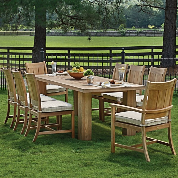 Croquet Teak Dining Patio Set Collection By Summer Classics