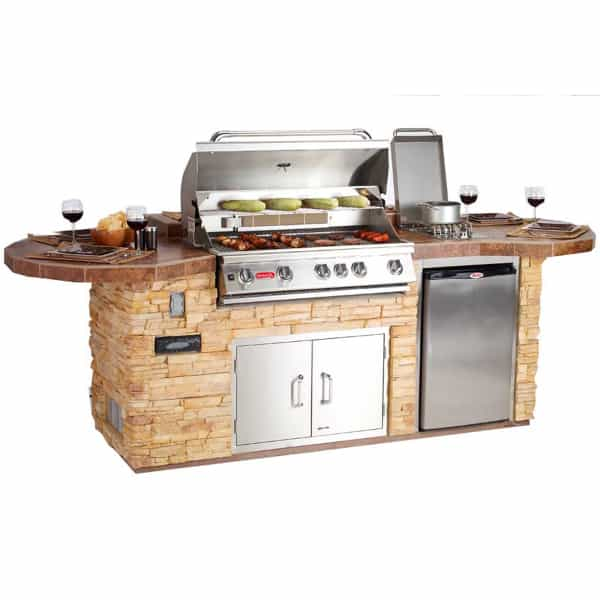 Gourmet Q Outdoor Grill Island By Bull Outdoor Products: Leisure-Q Grill Island