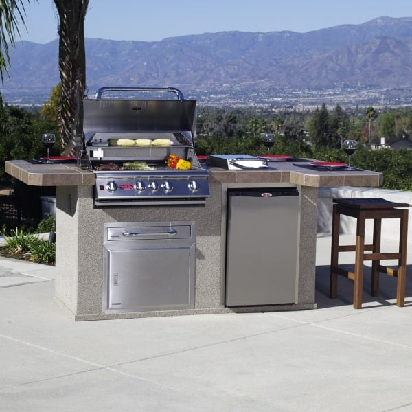 Power bbq grill island stucco for Barbecue islands for sale