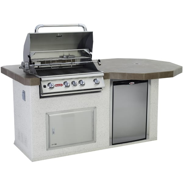 Gourmet Q Outdoor Grill Island By Bull Outdoor Products: Rodeo-Q Grill Island