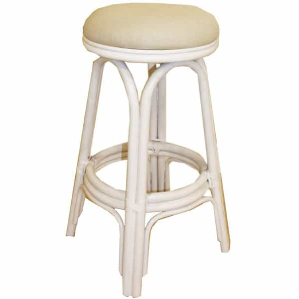 Vanessa White Natural Swivel Bar Stool By Pelican Reef