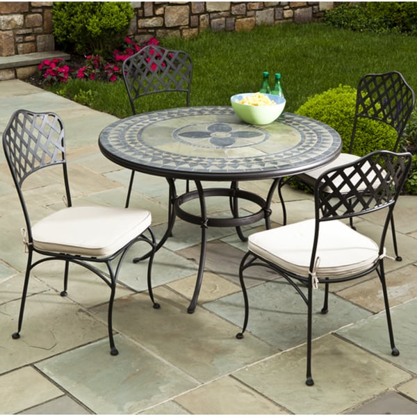 5 Piece Cremona Mosaic Outdoor Furniture Set From Alfresco