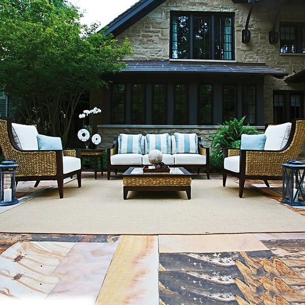Aqua deep seating patio furniture by summer classics for Deep seating outdoor furniture
