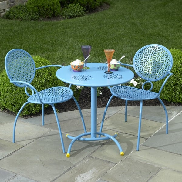 The margarita bistro set blue hawaiian by alfresco home Metal garden furniture sets