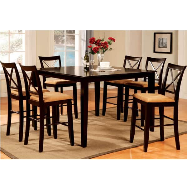 Hyde park counter height dining set by leisure select for Pub style dining sets