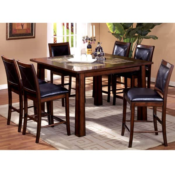 7 PC Dining room set-Oval Dining Table with Leaf and 6 ...