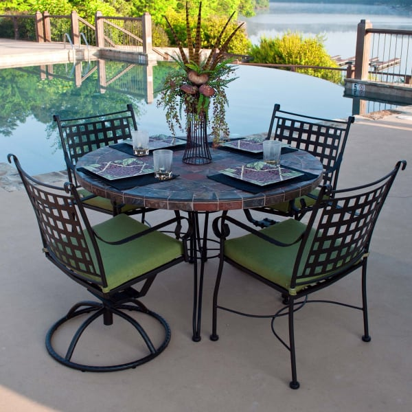 Outdoor Dining Collection Inspired By Mediterranean Bistro Style Furniture  ...