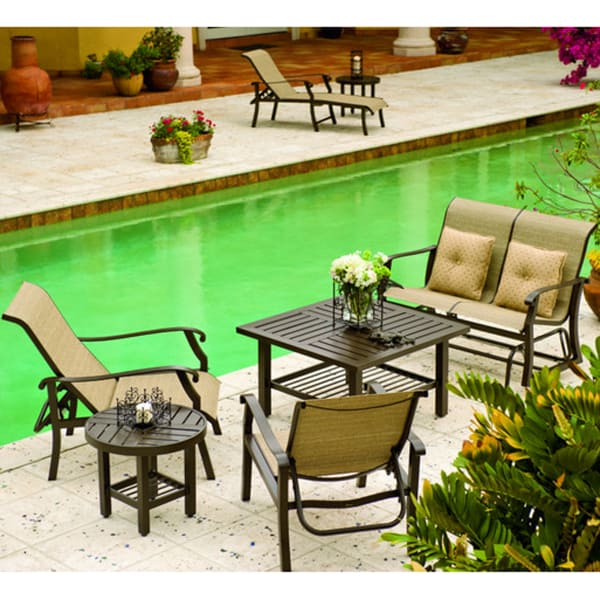 Woodard Cortland Patio Furniture.Cortland Sling Deep Seating Patio Collection By Woodard Patio