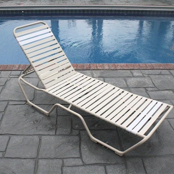 Country Club Strap Chaise Lounge Set of 2 by Windward Design Group