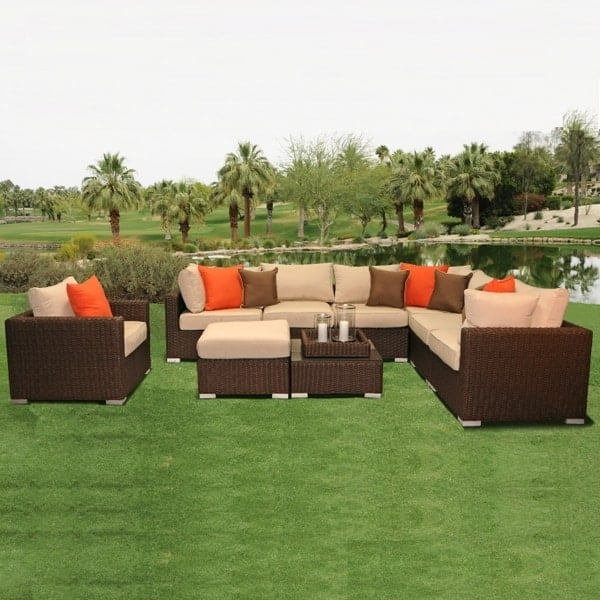 Lafayette Wicker Sectional By Leisure Select