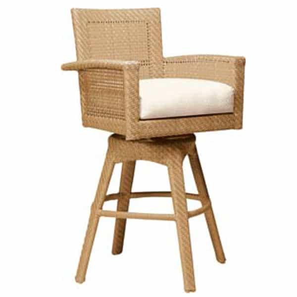 Trinidad Wicker Bar Stool By Woodard Garden Furniture