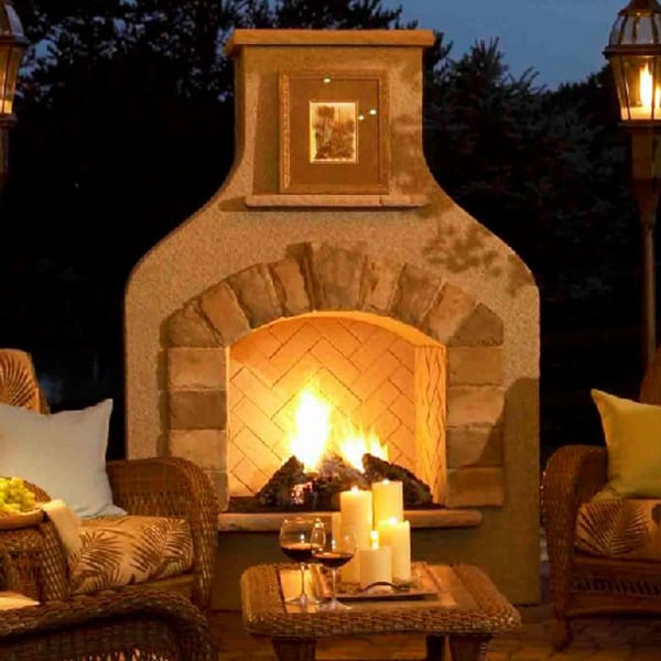 Sonoma gas fireplace for Outdoor room with fireplace