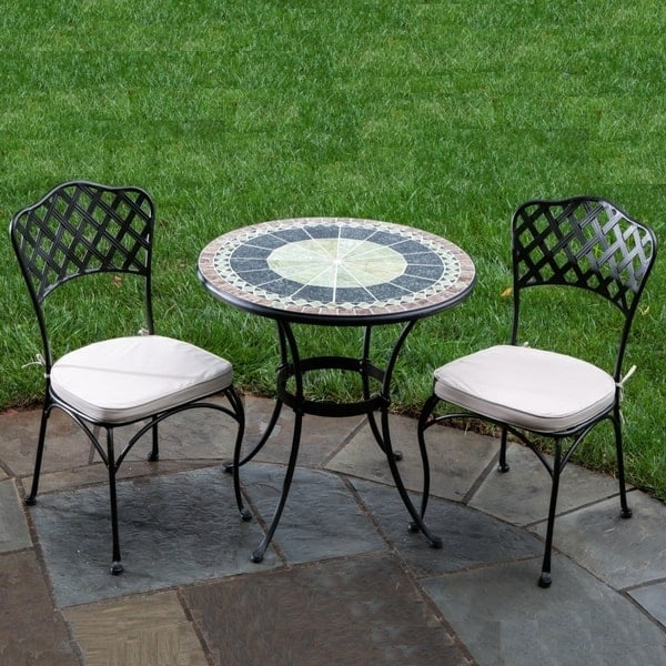 30 Ponte Marble Mosaic Bistro By Alfresco Home