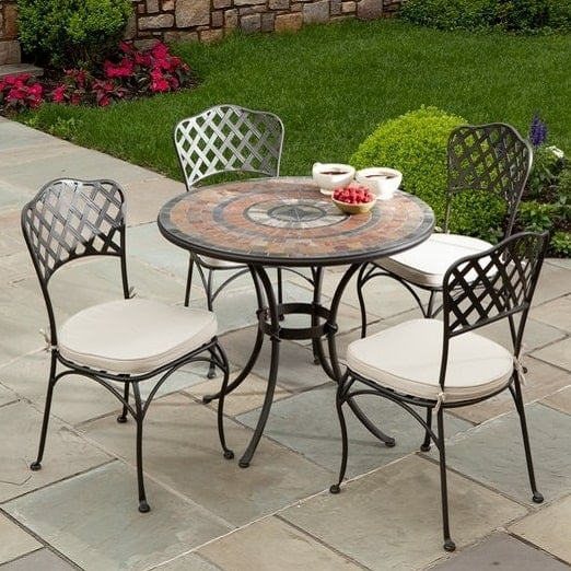 36 asti marble mosaic dining for Outdoor furniture italy
