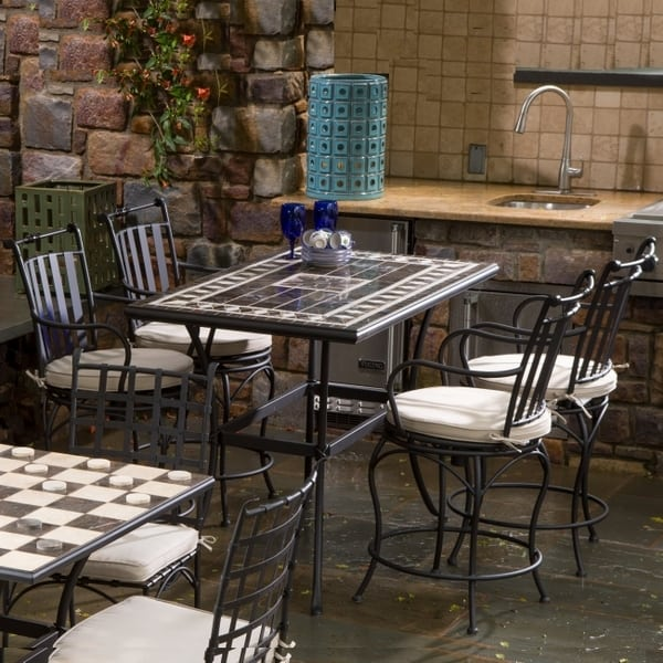 Gibraltar Marble Mosaic   Gathering Height By Alfresco Home
