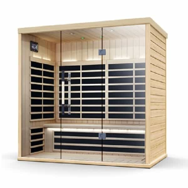 supreme 72 far infrared 3 person sauna. Black Bedroom Furniture Sets. Home Design Ideas