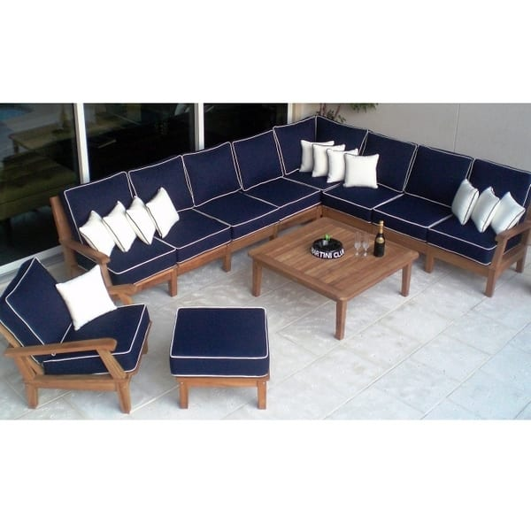 Miami teak sectional for Outdoor furniture miami