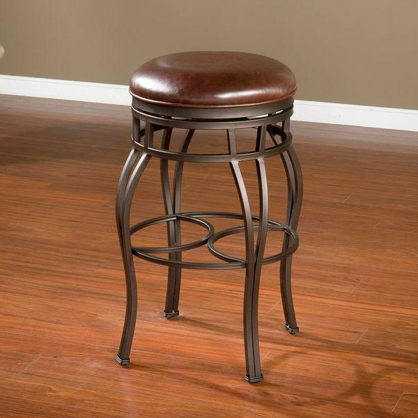 Bella Bourbon Backless Bar Stool