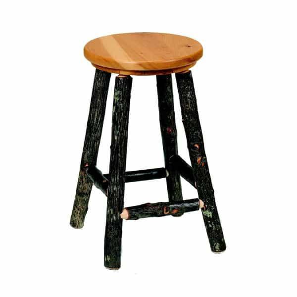 Hickory Round Bar Stool