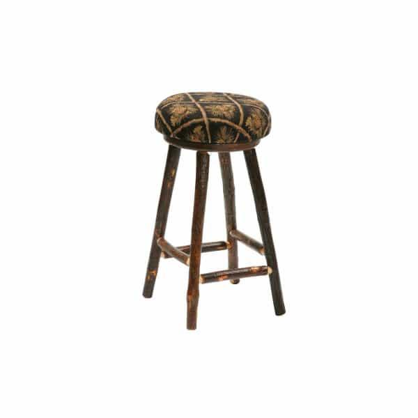 Hickory Round Upholstered Bar Stool