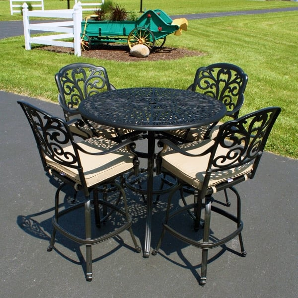 carrera bar height collection by leisure select outdoor patio furniture. Black Bedroom Furniture Sets. Home Design Ideas