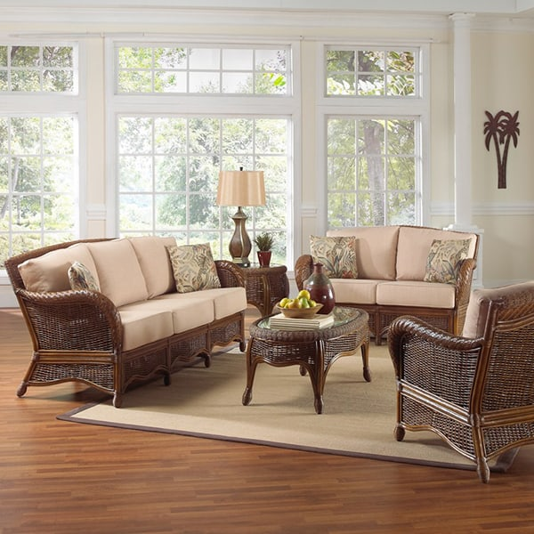 Montego Bay Wicker Indoor Deep Seating By Panama Jack Family Leisure