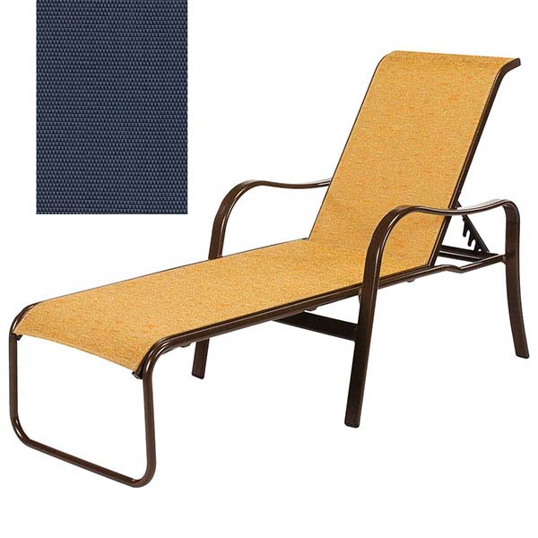 Sonata sling chaise lounge for Blue sling chaise lounge