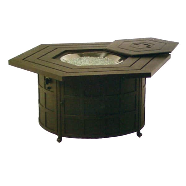 Nice Sherwood Hexagonal Enclosed Fire Pit Table By Hanamint