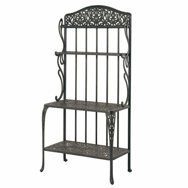 Tuscany Bakers Rack, Outdoor Bakers Rack