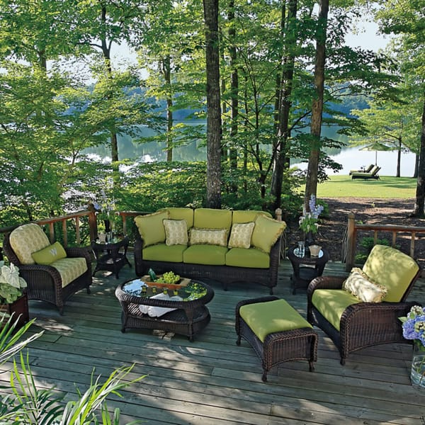 Delightful Traditional Wicker Set Offers Modern U0026 Durable N Dura Resin For Outdoor ...