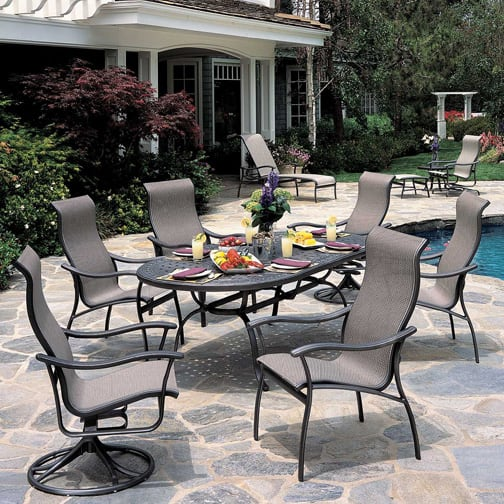 Seabreeze Sling Dining Patio Furniture by Tropitone
