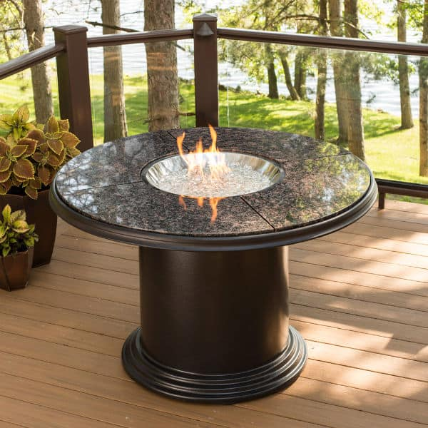 colonial fire pit table dining granite. Black Bedroom Furniture Sets. Home Design Ideas