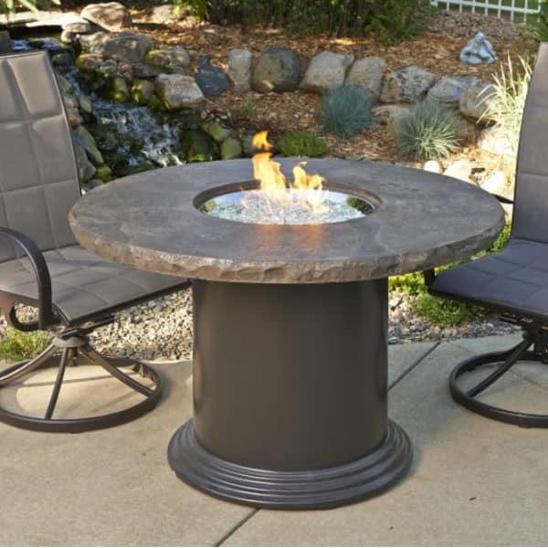 colonial fire pit table dining marbleized. Black Bedroom Furniture Sets. Home Design Ideas