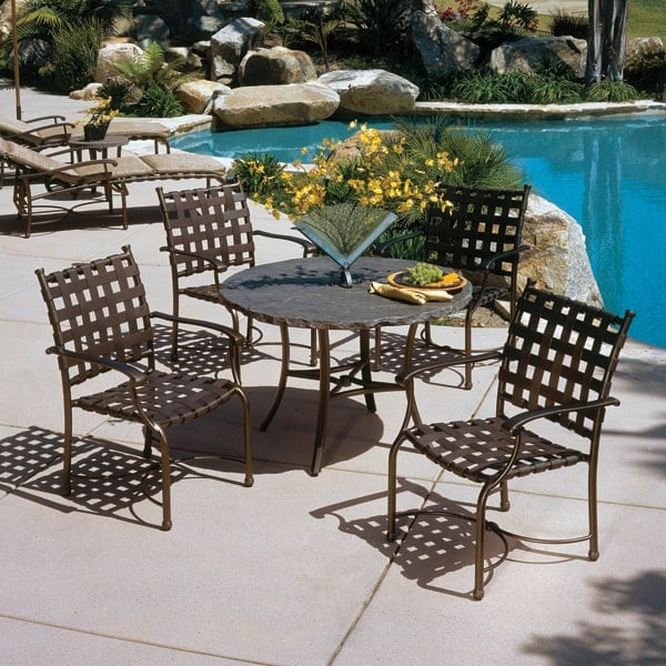 Sorrento cross strap dining for Commercial patio furniture