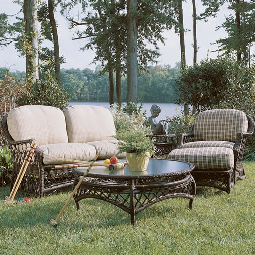Relax in style on your patio with the camino wicker by lane venture