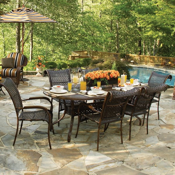 Simply The Best In Woven All Weather Outdoor Dining Patio Furniture. Part 51