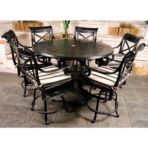 Dynasty counter height patio set by gensun free shipping for Bar height patio furniture