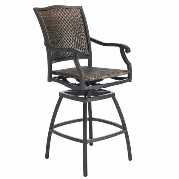 Plaza Wicker Bar Stool Simply the Best in Woven All Weather Outdoor