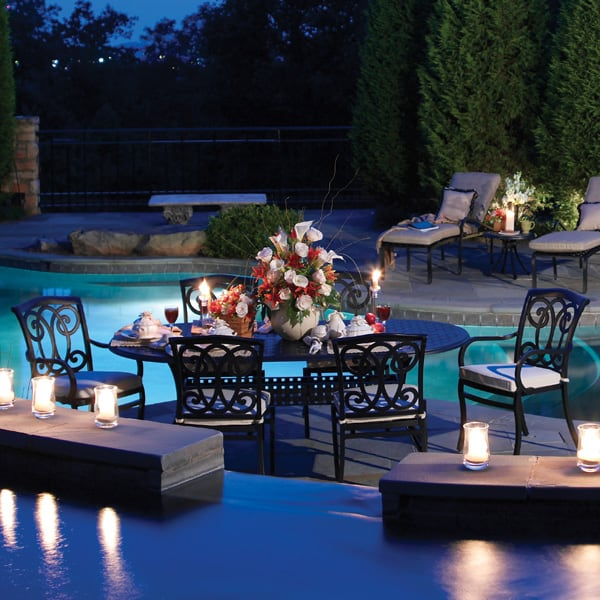 Somerset Cast Aluminum Dining Patio Furniture By Summer