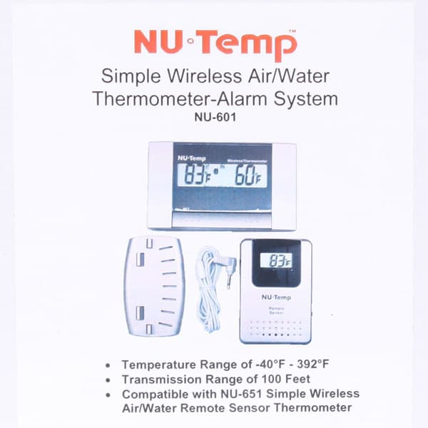 Wireless remote thermometer pool supplies for Poolthermometer obi