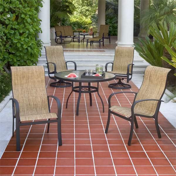 Woodard Sling Patio Furniture.Fremont Dining