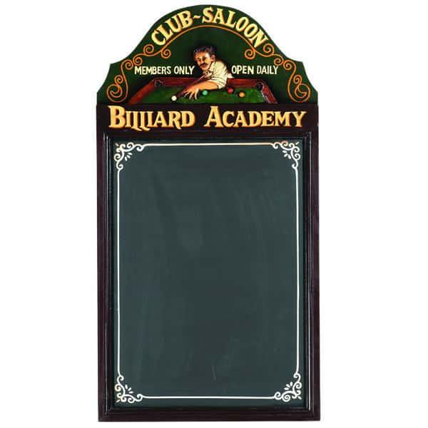 Billiard Academy Chalkboard