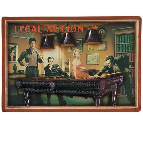 Game Room Wall Art: Legal Action Wall Art