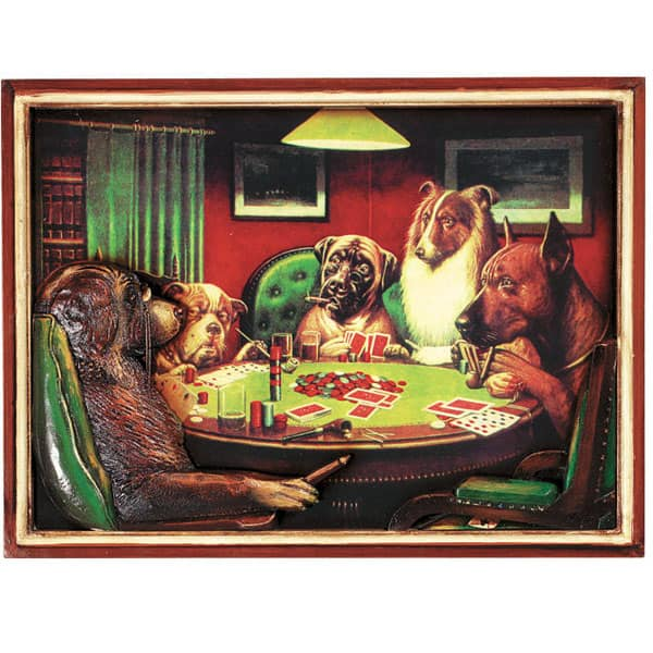 Poker Dogs With Cigars Wall Art By R A M Game Room Game Room Decor