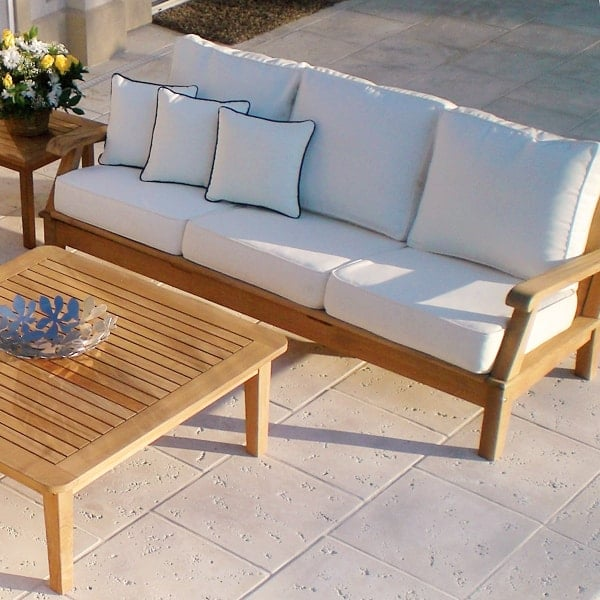 patio furniture miami miami teak white 10606