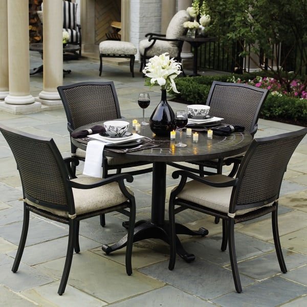 Outdoor Furniture Repair Deer Park Ny: Plaza Dining Wicker Patio Furniture By Summer Classics