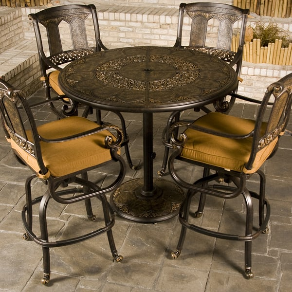 safford swivel sling seat aluminum patio bar height chairs patio